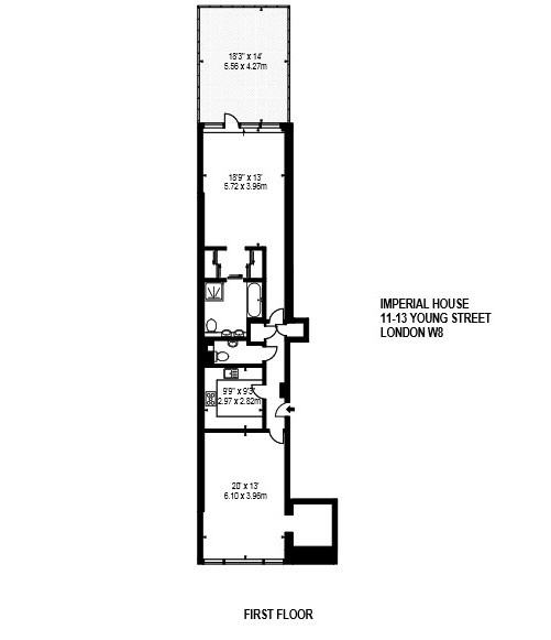 Young Street, Kensington, W8 Floorplan 1