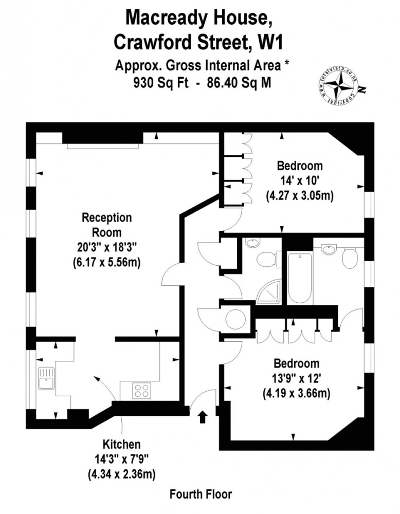 Crawford Street, Marylebone, W1H Floorplan 1