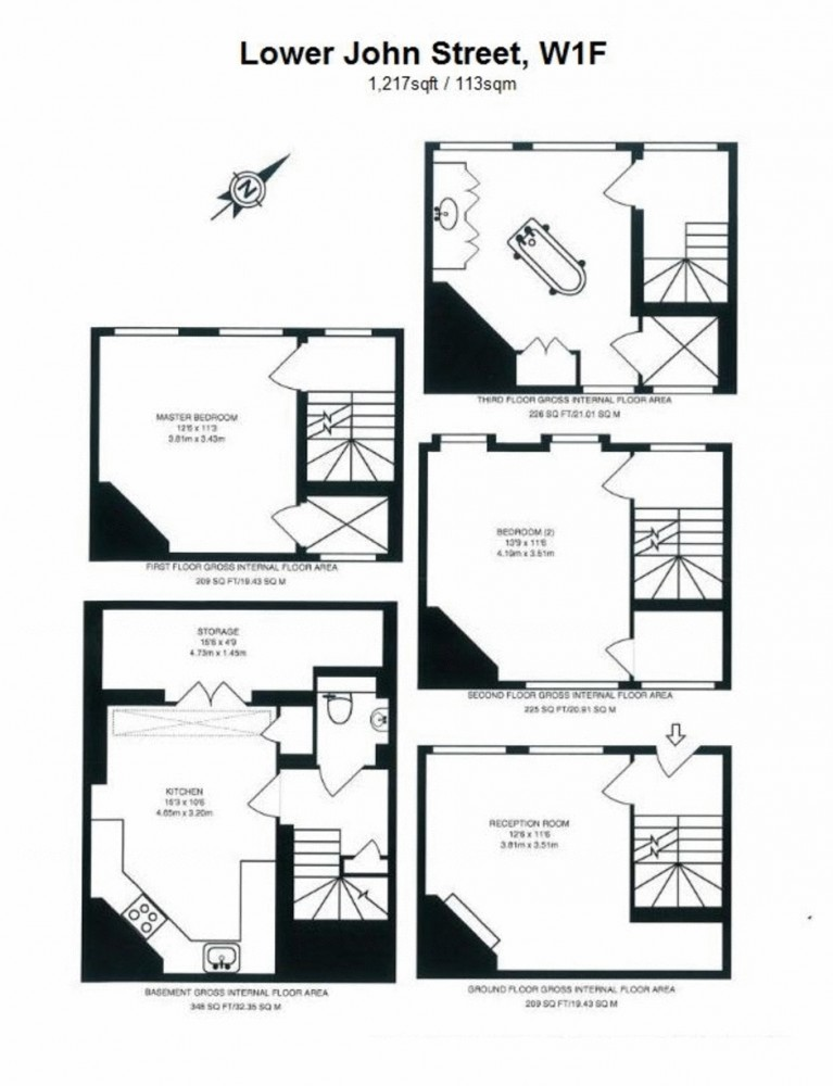 Lower John Street, Mayfair Floorplan 1