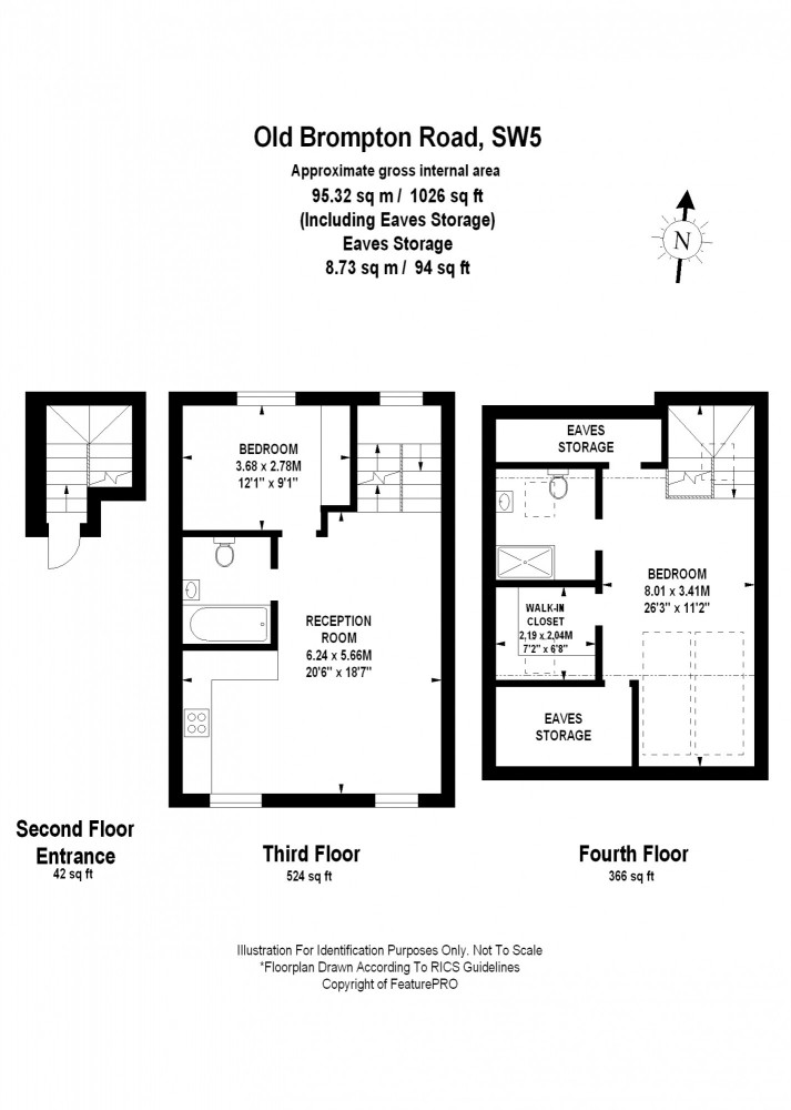 Old Brompton Road, London, SW5 Floorplan 1