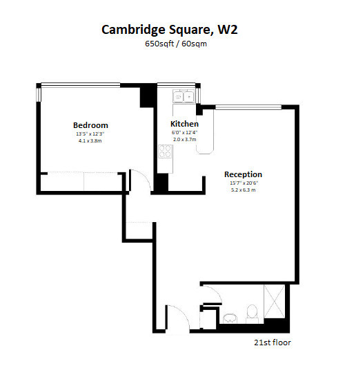 Cambridge Square, London, W2 Floorplan 1