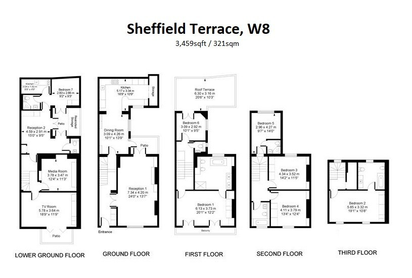 Sheffield Terrace, Kensington, W8 Floorplan 1