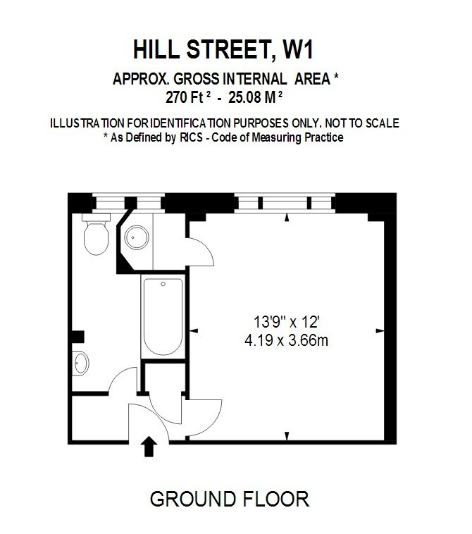 Hill Street, Mayfair, W1J Floorplan 1