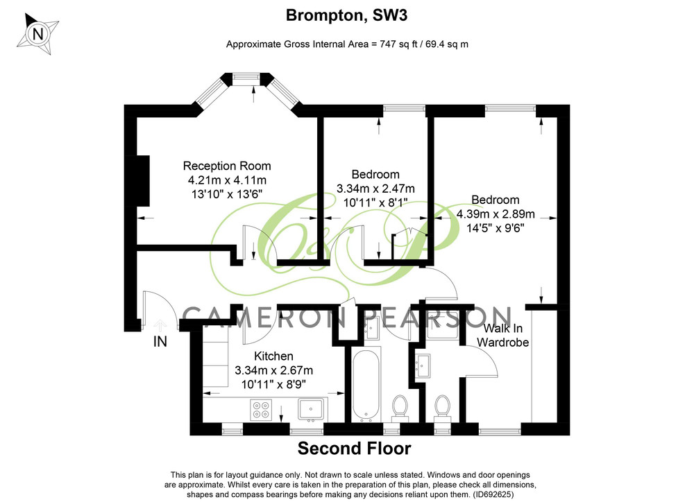 Brompton Road, South Kensington, SW3 Floorplan 1